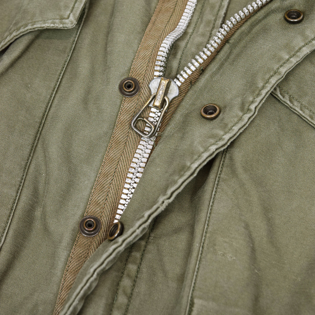 Vintage 50s M-1951 Korean War US Army Field Jacket OG-107 Olive Green M zip
