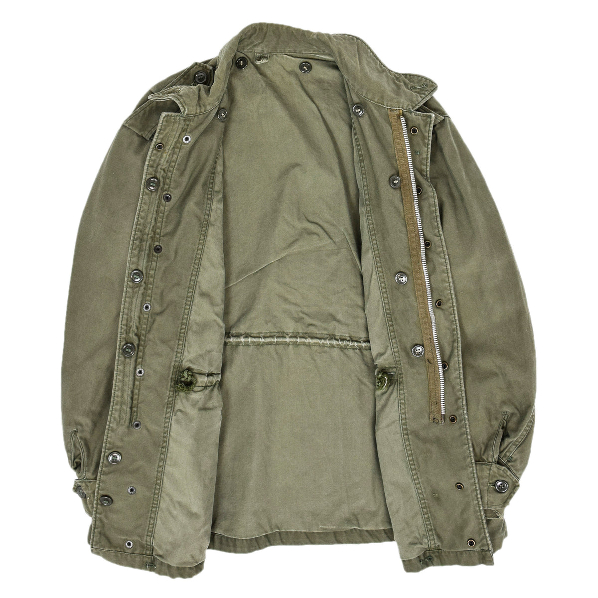 Vintage 50s M-1951 Korean War US Army Field Jacket OG-107 Olive Green M internal