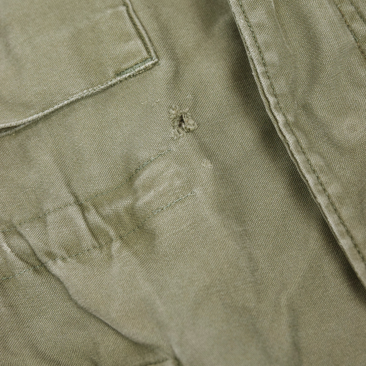 Vintage 50s M-1951 Korean War US Army Field Jacket OG-107 Olive Green M hole