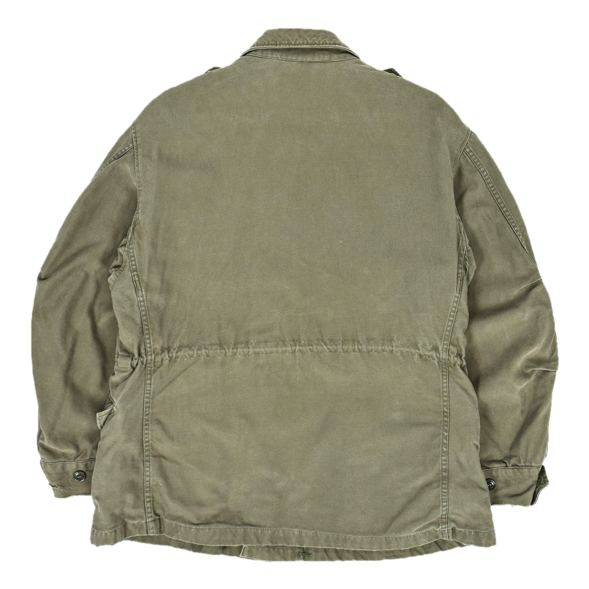 Vintage 50s M-1951 Korean War US Army Field Jacket OG-107 Olive Green M back