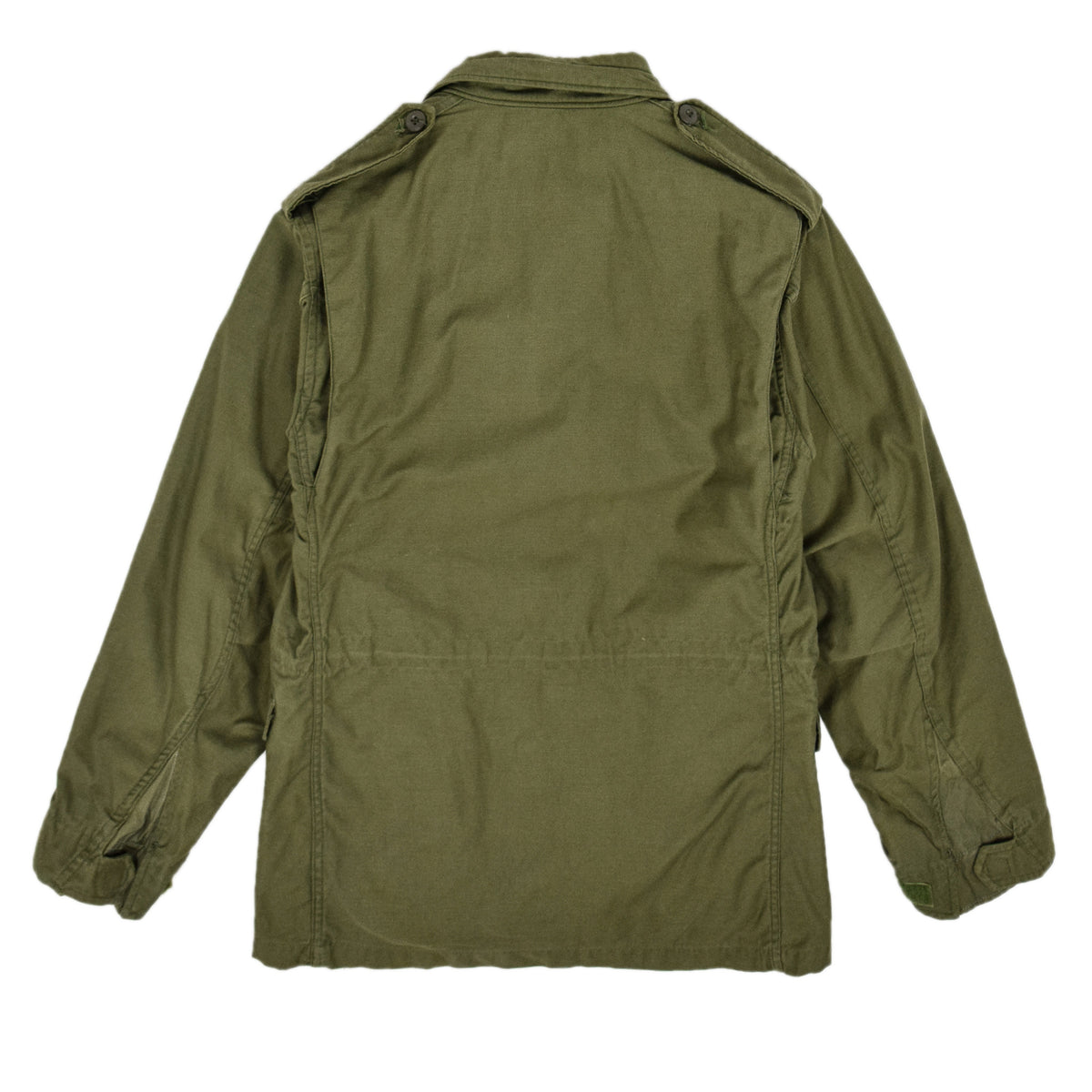 Vintage 60s Vietnam M-65 Man's Field Sateen 0G-107 Green US Army Coat S back