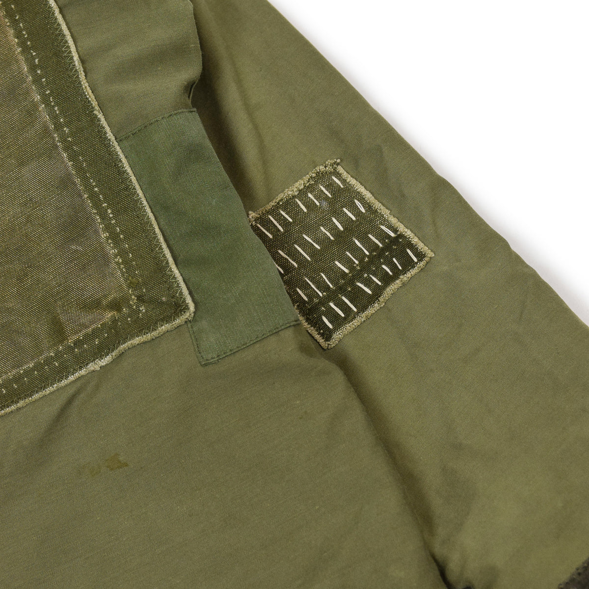 Vintage 80s US Military Darned Fine Reworked A-2 Deck Jacket M sashiko