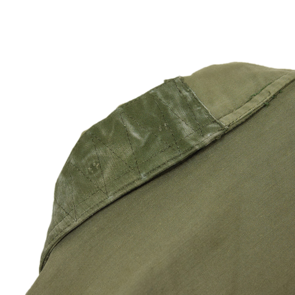 Vintage 80s US Military Darned Fine Reworked A-2 Deck Jacket M collar detail