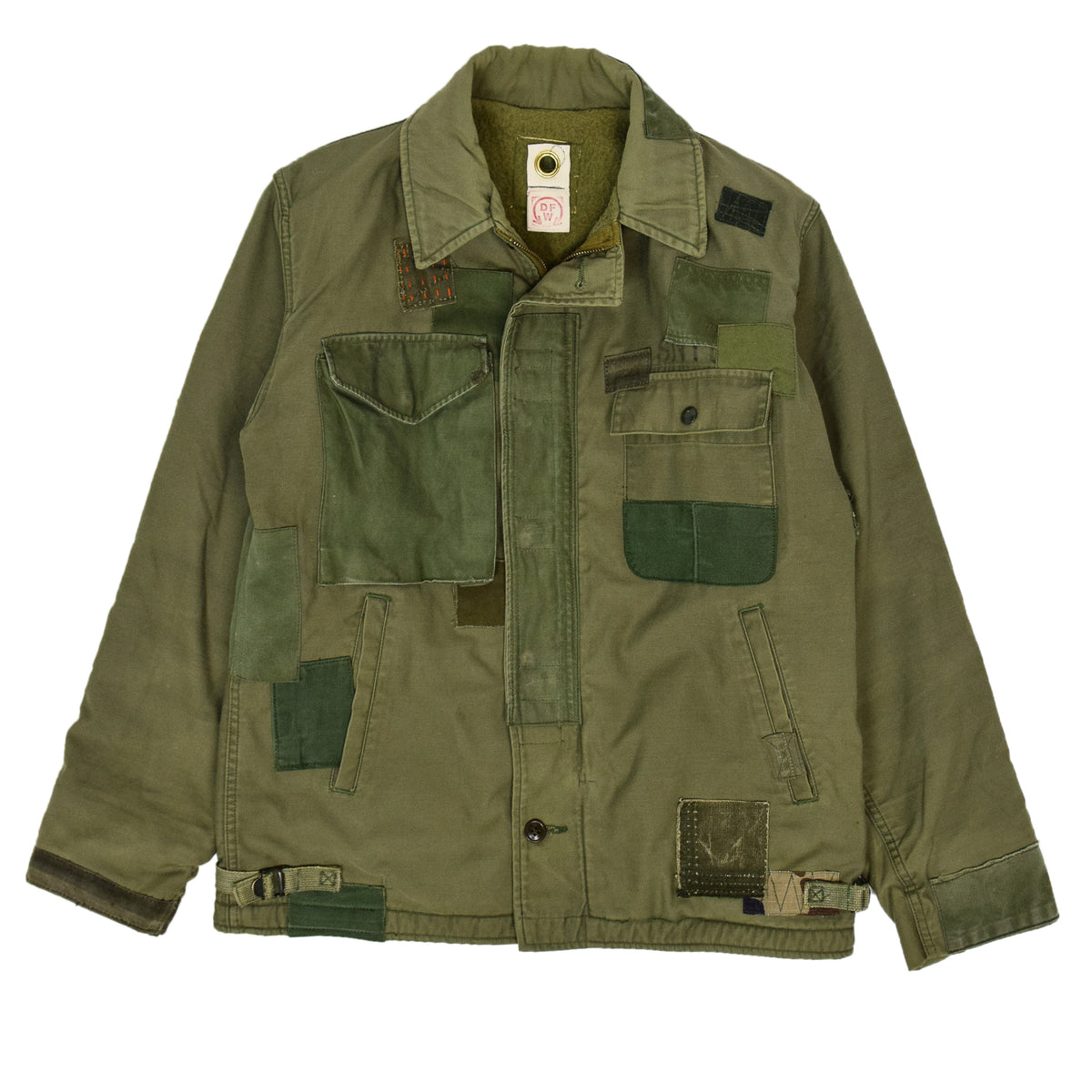 Vintage 80s US Military Darned Fine Reworked A-2 Deck Jacket M front