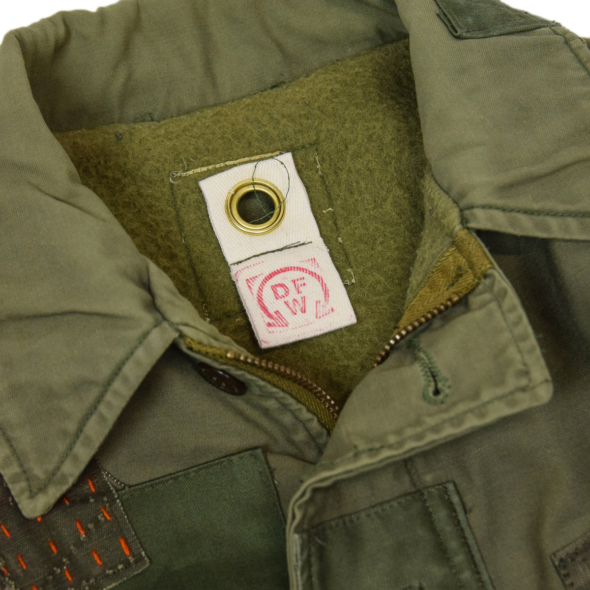 Vintage 80s US Military Darned Fine Reworked A-2 Deck Jacket M collar