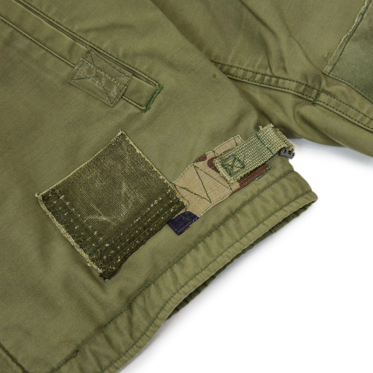Vintage 80s US Military Darned Fine Reworked A-2 Deck Jacket M cinch waist