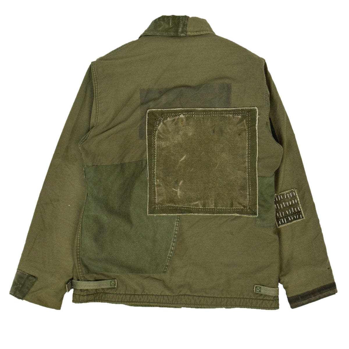 Vintage 80s US Military Darned Fine Reworked A-2 Deck Jacket M back