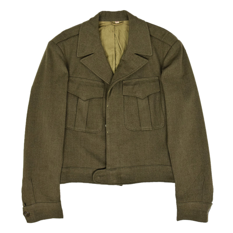 Vintage 40s WWII US Military Eisenhower 'Ike' Field Jacket S front