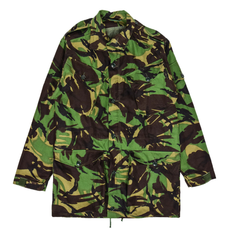 Vintage 90s British Army Combat Smock Woodland DPM Camo Jacket M FRONT