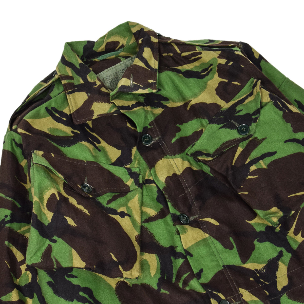 Vintage 90s British Army Combat Smock Woodland DPM Camo Jacket M CHEST