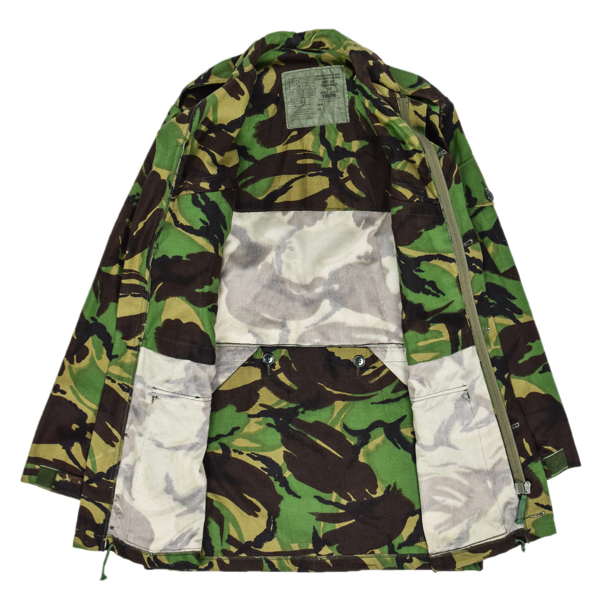 Vintage 90s British Army Combat Smock Woodland DPM Camo Jacket M INTERNAL
