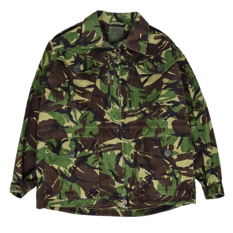 Vintage 90s British Army Combat Smock Temperate Woodland DPM Camo Jacket L front