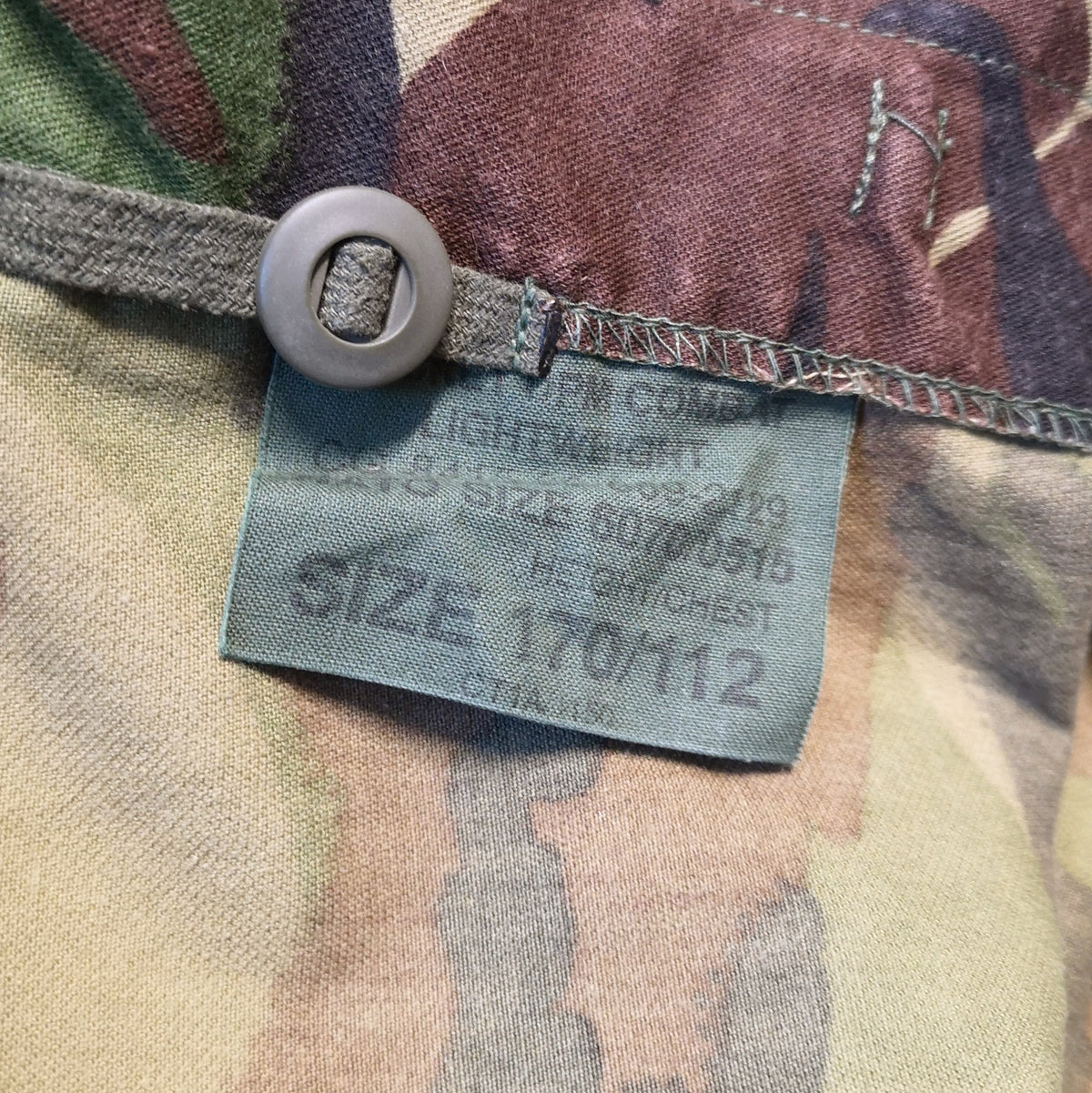 Vintage 90s British Army Desert Rats Combat DPM Camo Jacket Lightweight L INNER LABEL