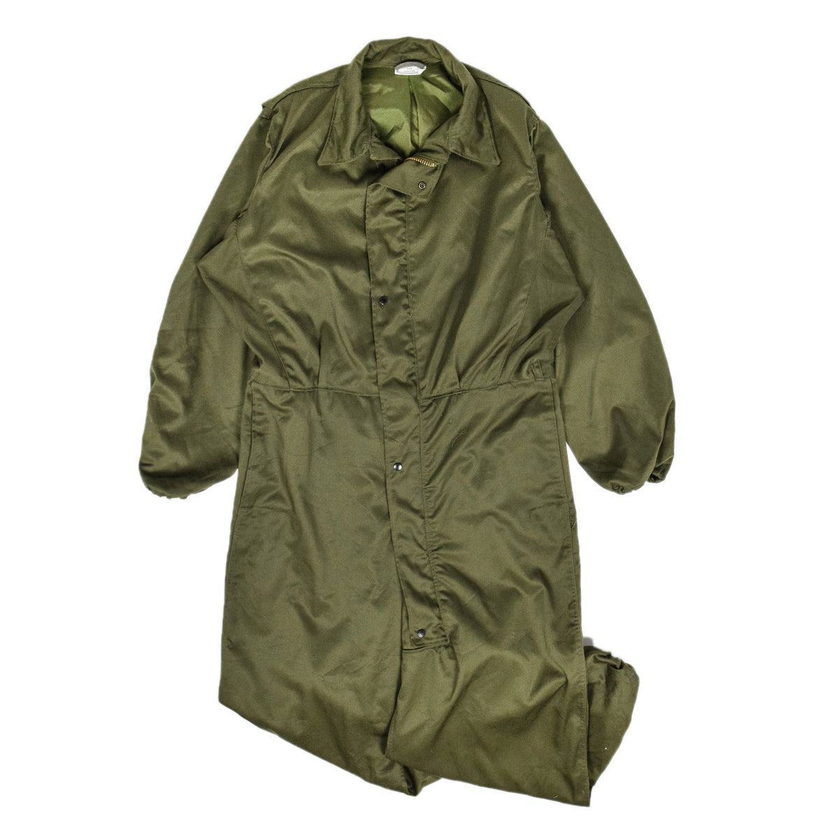 Vintage 80s Deadstock US Army Mechanic's Cold Weather Coveralls Green M / L front