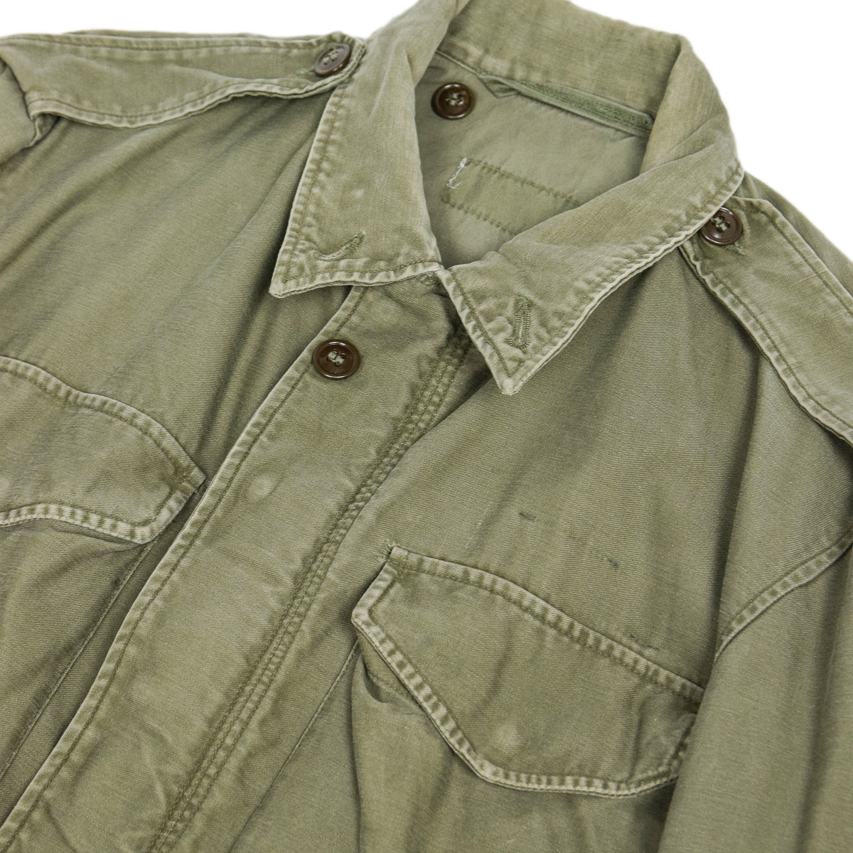 Vintage 50s M-1951 Korean War US Army Field Jacket Olive Green M chest