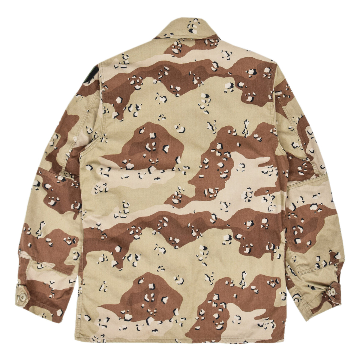 Vintage 80s US Army Choc Chip Desert Camo BDU Combat Coat Field Jacket M back