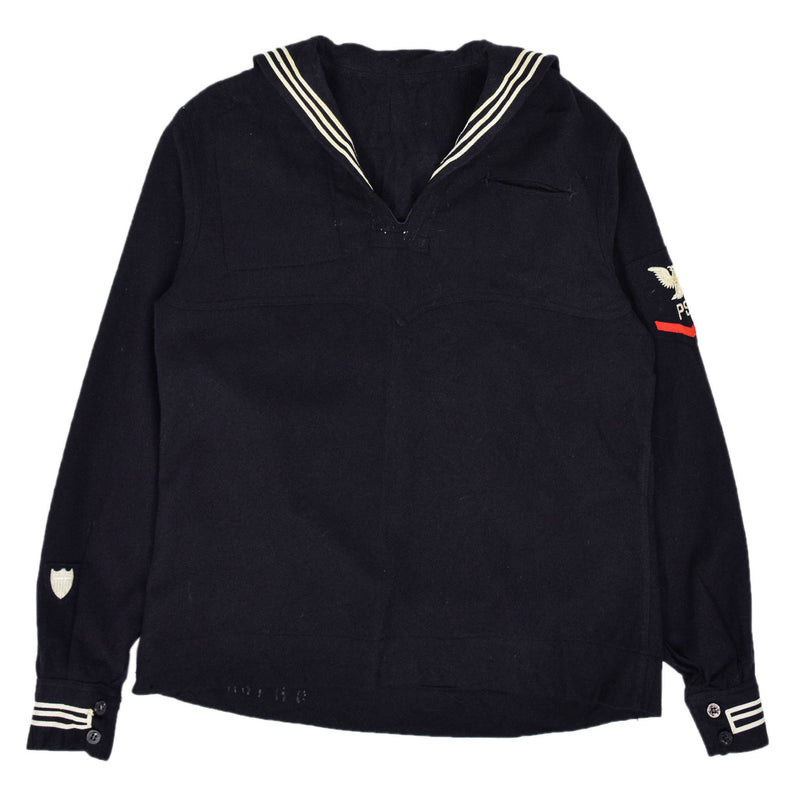 Deadstock Vintage WW2 US Navy Cracker Jack Military Wool Shirt M / L front