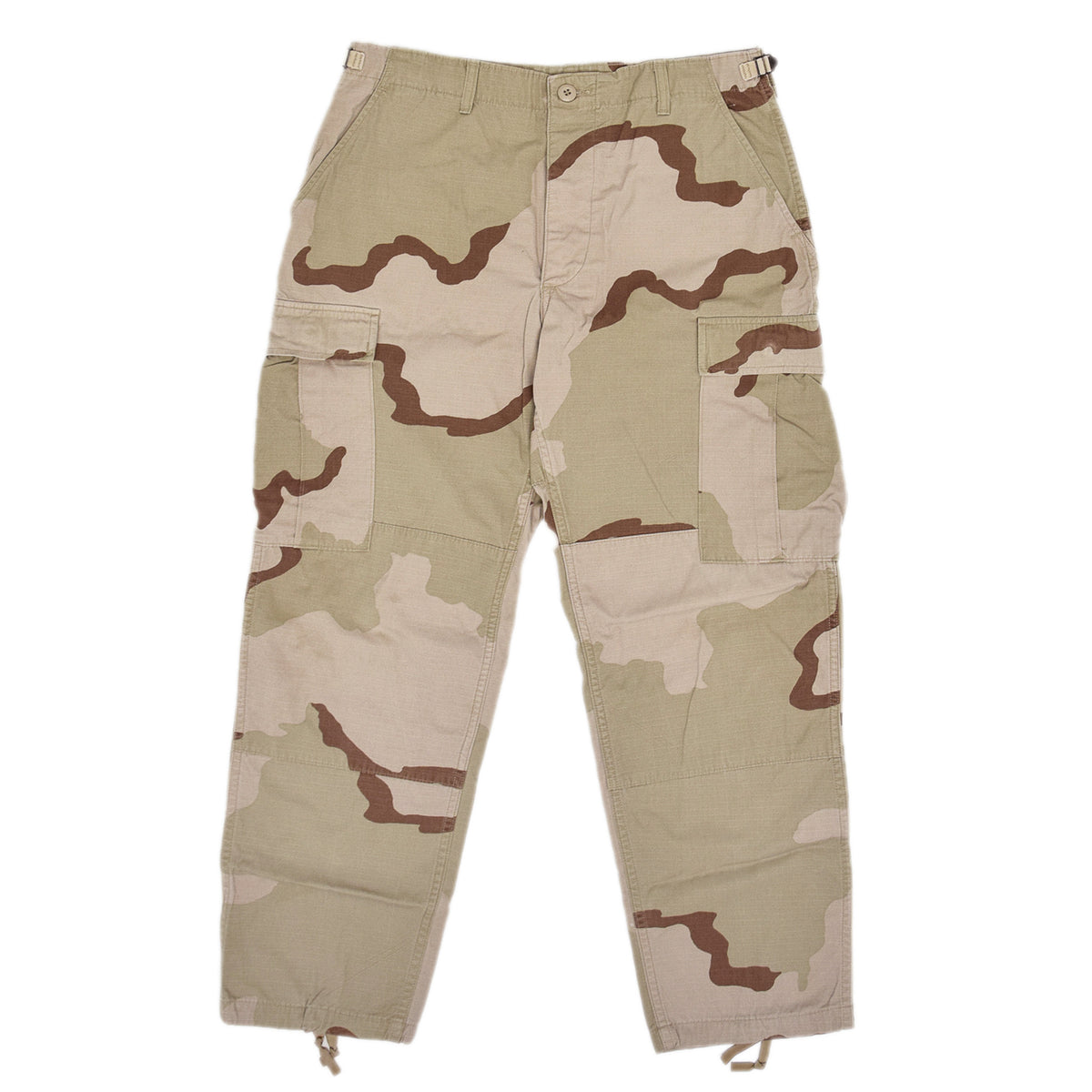 Vintage US Army Desert Camo Ripstop Cargo Combat Field Trousers M Short front