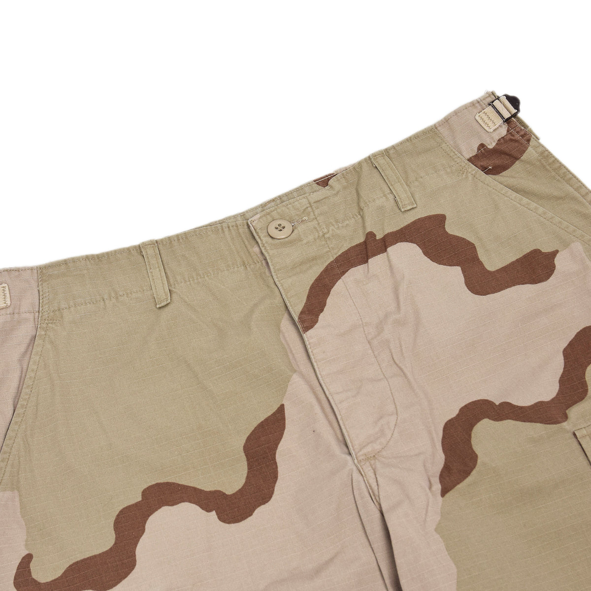 Vintage US Army Desert Camo Ripstop Cargo Combat Field Trousers M Short waistband
