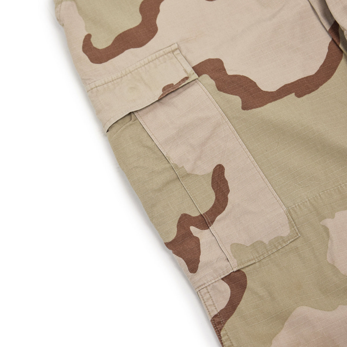 Vintage US Army Desert Camo Ripstop Cargo Combat Field Trousers M Short thigh pocket