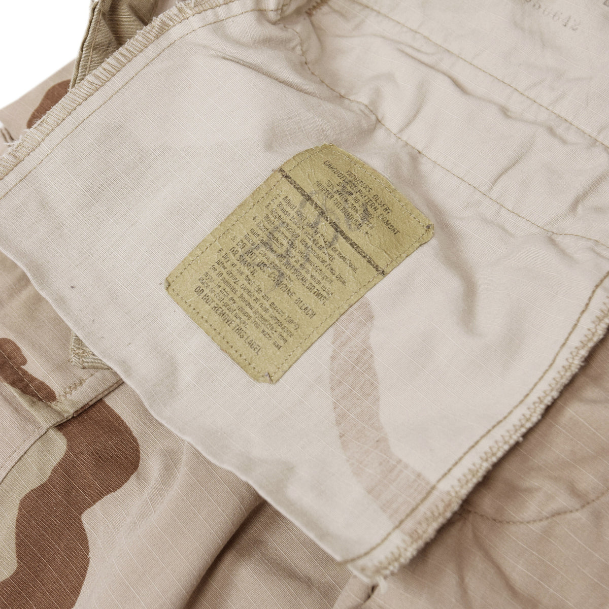 Vintage US Army Desert Camo Ripstop Cargo Combat Field Trousers M Short inner label