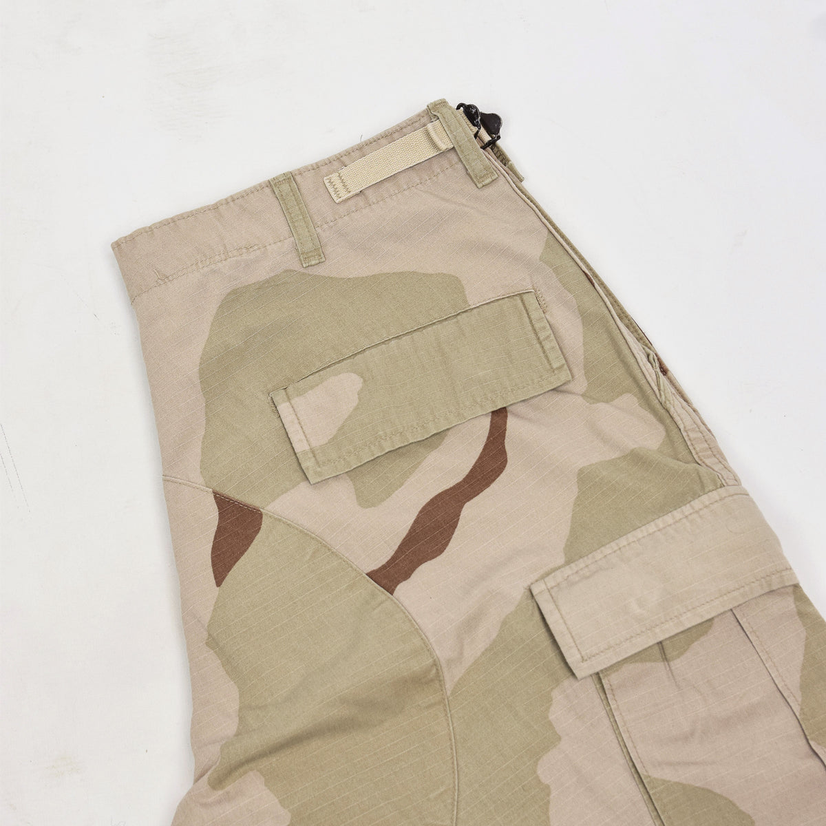 Vintage US Army Desert Camo Ripstop Cargo Combat Field Trousers M Short back pocket