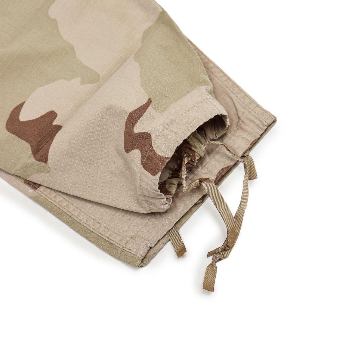Vintage US Army Desert Camo Ripstop Cargo Combat Field Trousers M Short drawstring