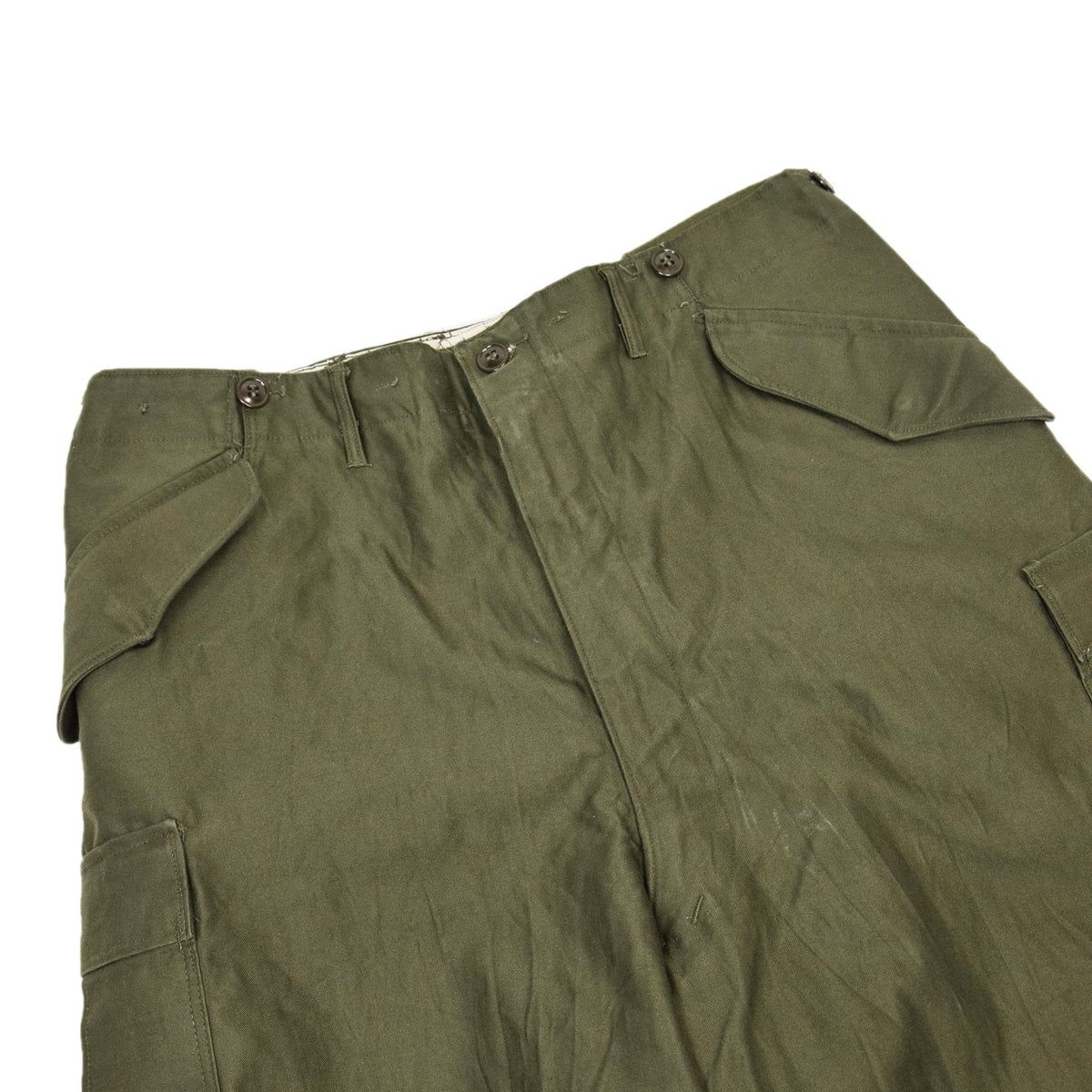 Vintage 50s US Army M-1951 Cotton Sateen OG-107 Shell Field Trousers M Reg  WAIST