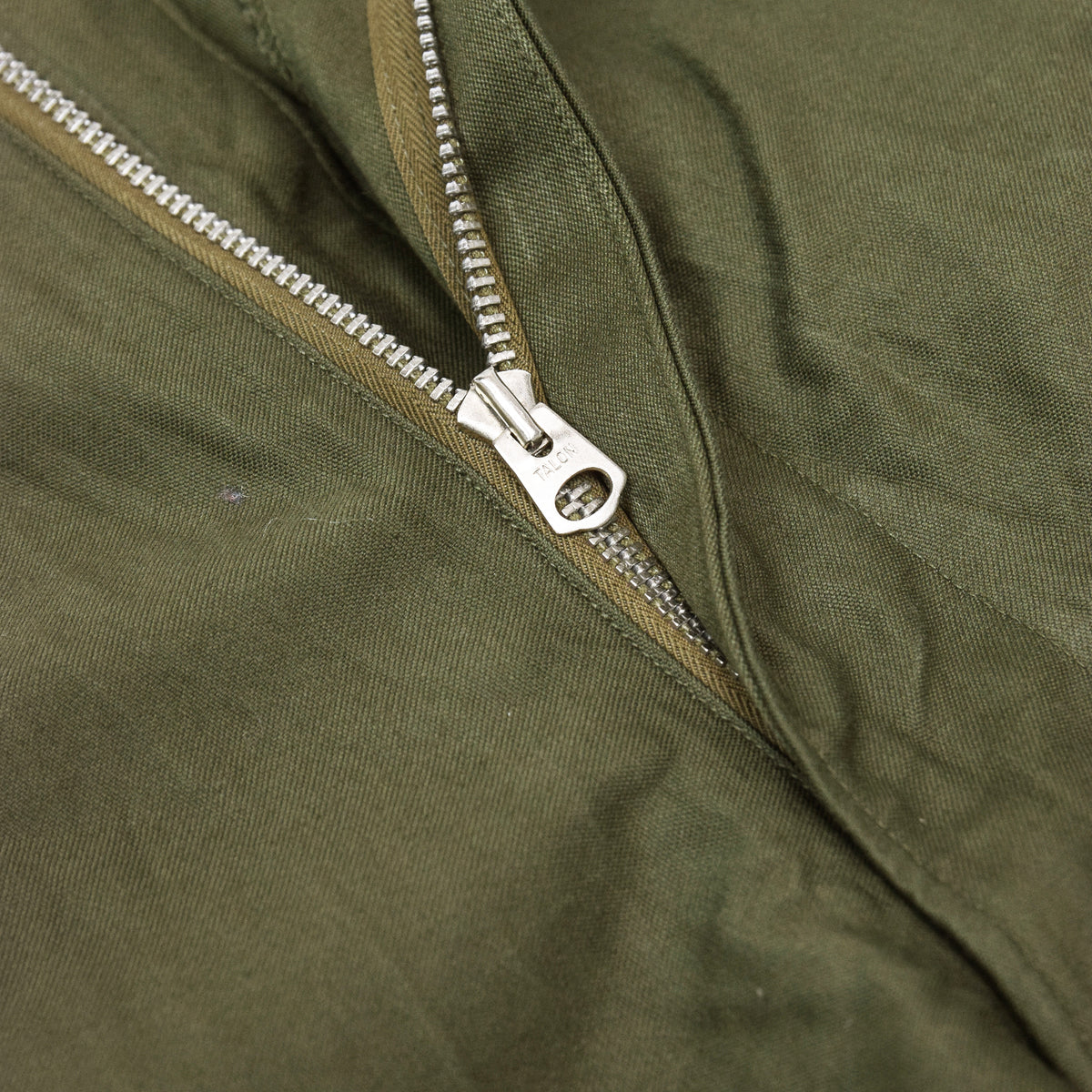 Vintage 50s US Army M-1951 Cotton Sateen OG-107 Shell Field Trousers M Reg  ZIP