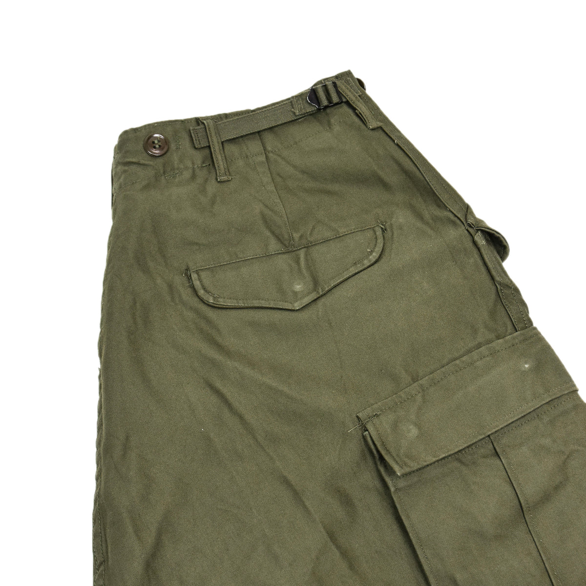 Vintage 50s US Army M-1951 Cotton Sateen OG-107 Shell Field Trousers M Reg  BACK POCKET