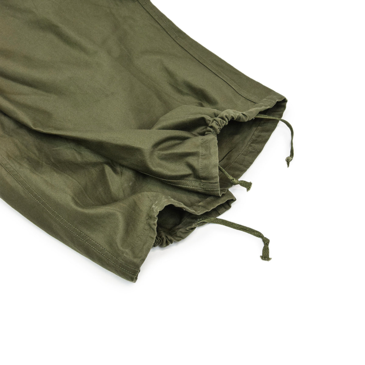 Vintage 50s US Army M-1951 Cotton Sateen OG-107 Shell Field Trousers M Reg DRAWSTRINGS