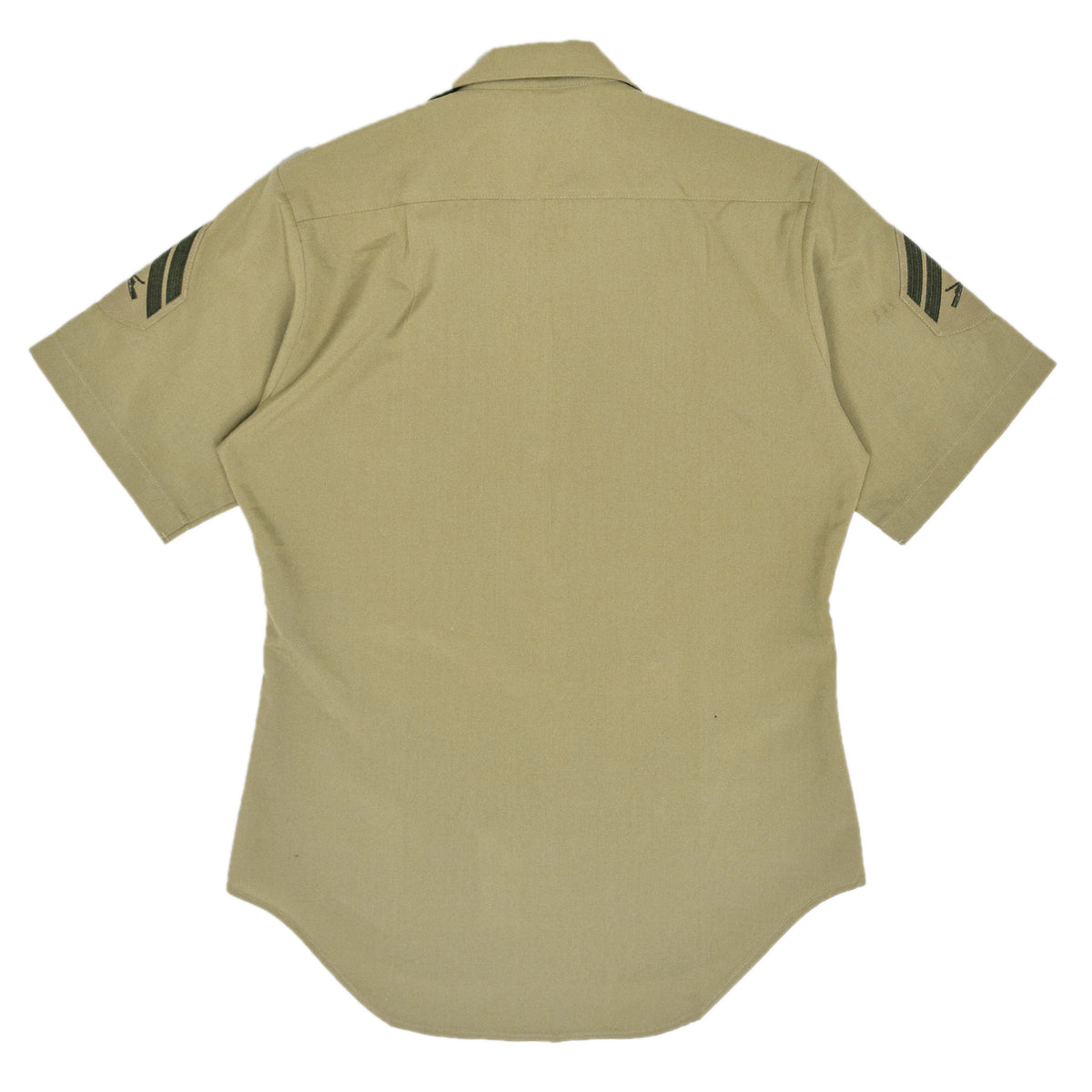 US Army DSCP Short Sleeve Khaki Cotton Military Field Shirt S back