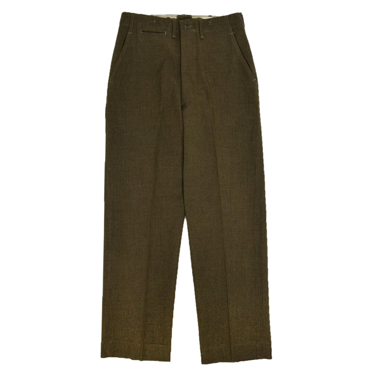 Vintage 40s Post WW2 US Army Wool Field Trousers 30 W 32 L  front