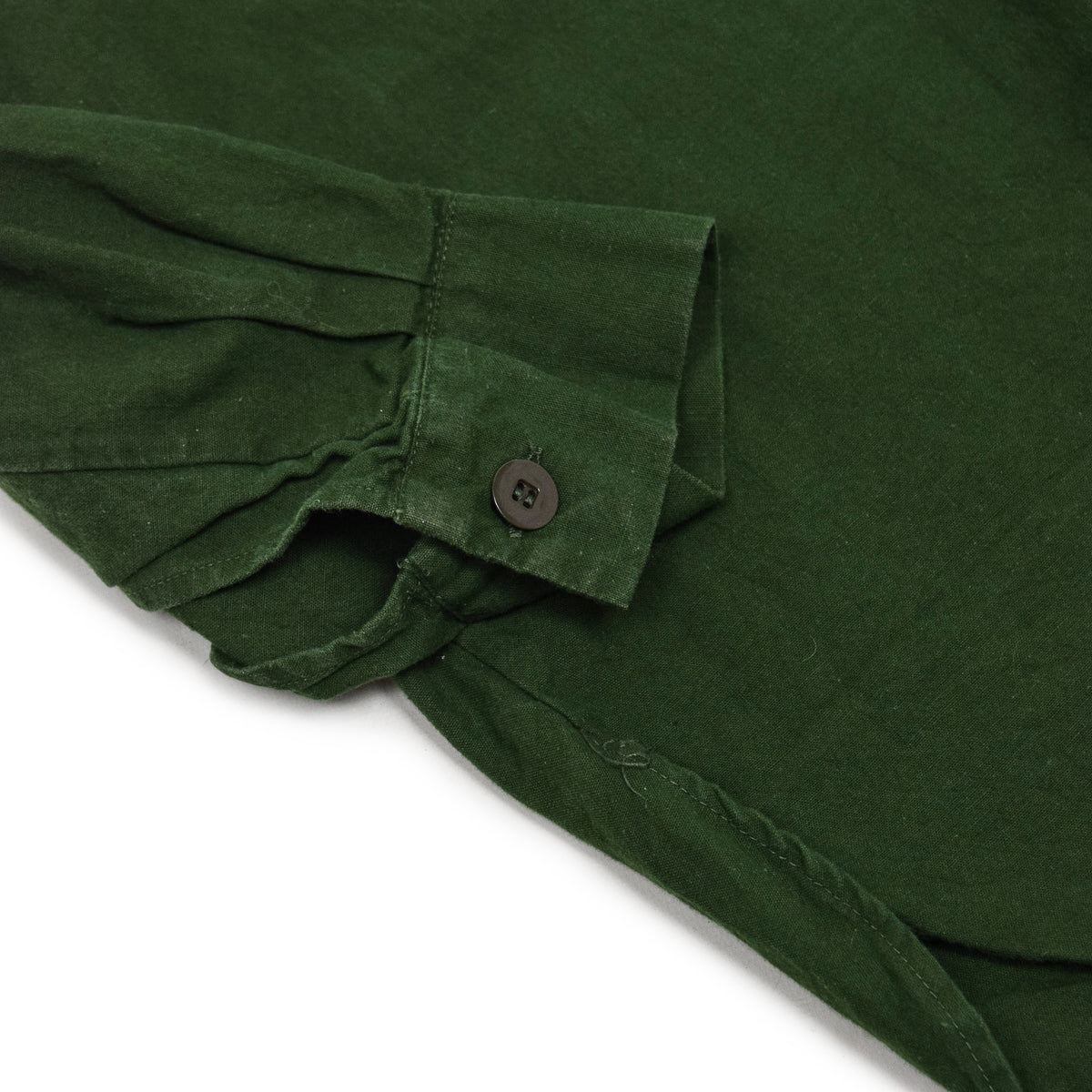 Vintage Swedish Military Overhead Smock Shirt Army Green M / L CUFF