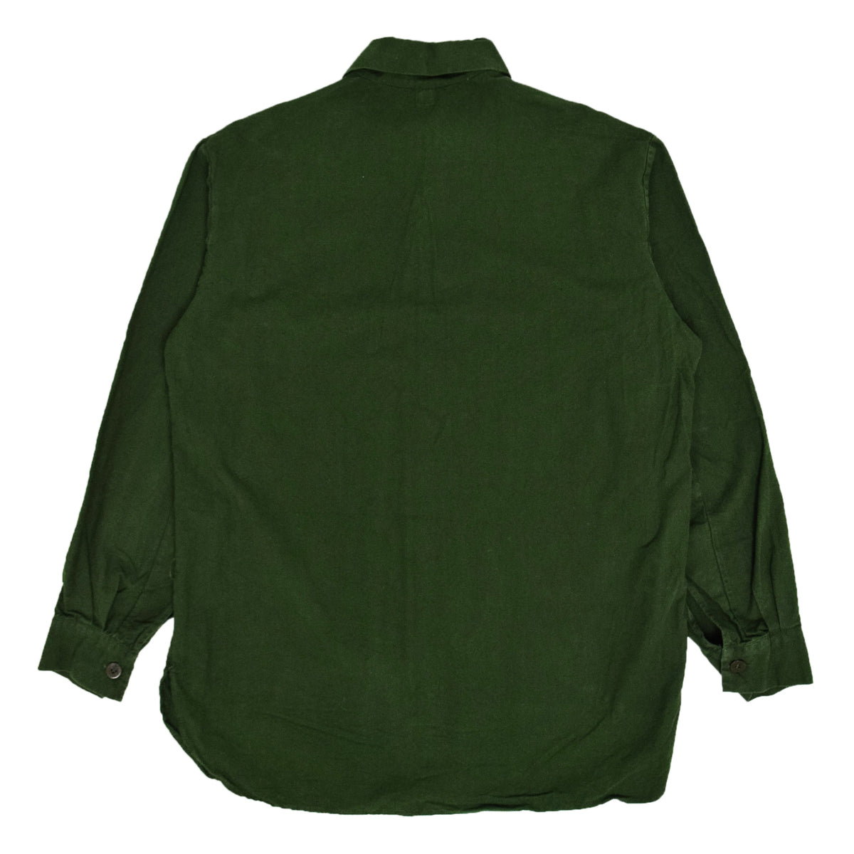 Vintage Swedish Military Overhead Smock Shirt Army Green M / L BACK