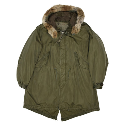 Vintage M-1951 2nd Generation 1950s US Army Fishtail Parka M Oversized FRONT
