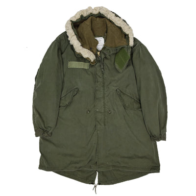 Vintage M-65 70s US Army Extreme Cold Weather Fishtail Parka M Oversized front
