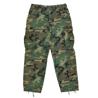 Vintage 80s US Army ERDL 2nd Generation Camo Hot Weather Combat Trousers M FRONT