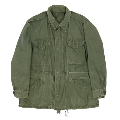 Vintage 50s M-1951 Korean War US Army Field Jacket OG-107 Olive Green XXL FRONT