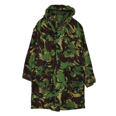 Vintage 80s British Army Windproof Smock Woodland Camo Field Jacket XL / XXLfront