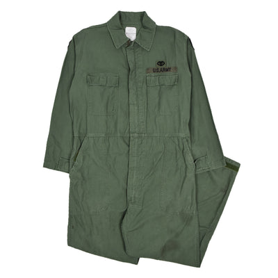Vintage 90s US Army Overalls Flying US Air Force Coverall Green Flight Suit L FRONT
