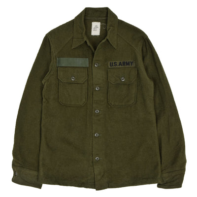 Vintage 60s Vietnam War Era OG-108 US Army Wool Field Shirt S front