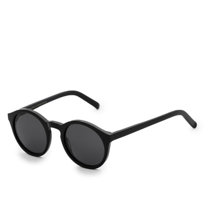 Monokel Barstow Black Sunglasses Grey Solid Lens side
