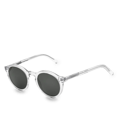 Monokel Eyewear Barstow Crystal Solid Grey Lens side