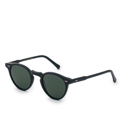 Monokel Forest Black Sunglasses Green Solid Lens side