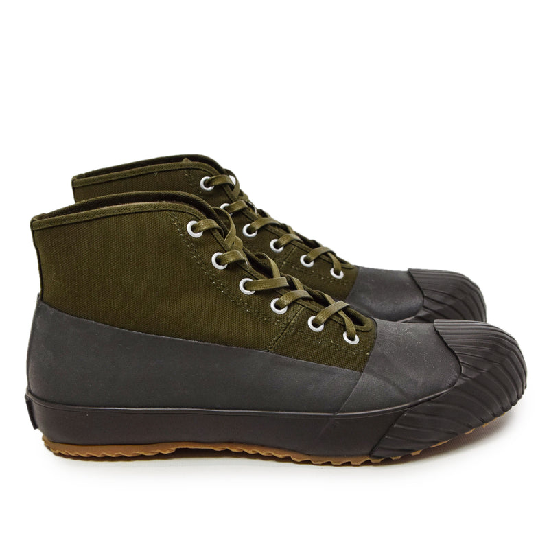 Moonstar Vulcanised Alweather Boot Khaki Made In Japan SIDE