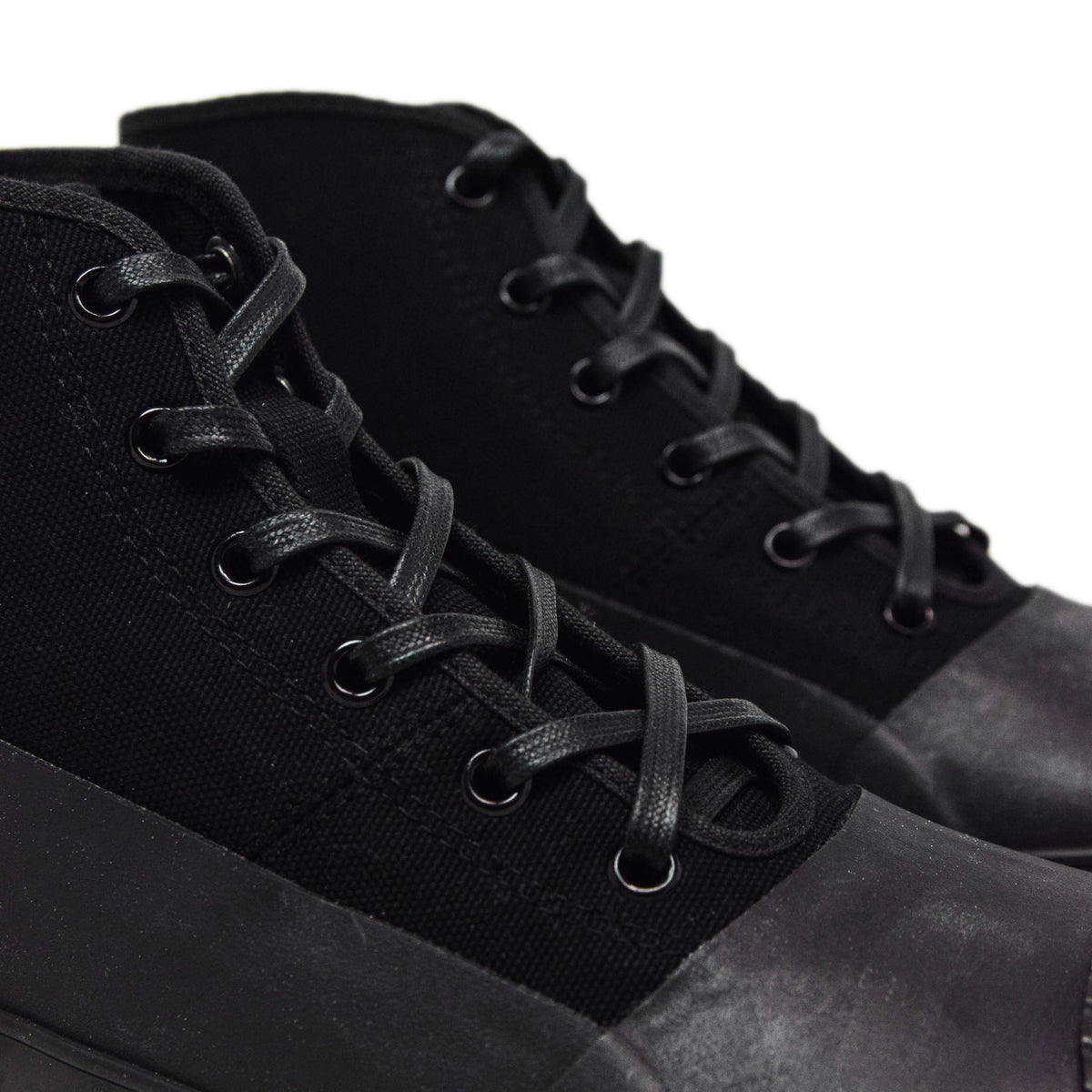 Moonstar Vulcanised Alweather Boot Black Made In Japan LACES