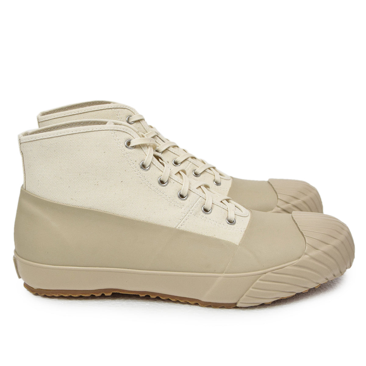 Moonstar Vulcanised Alweather Boot Beige Made In Japan side