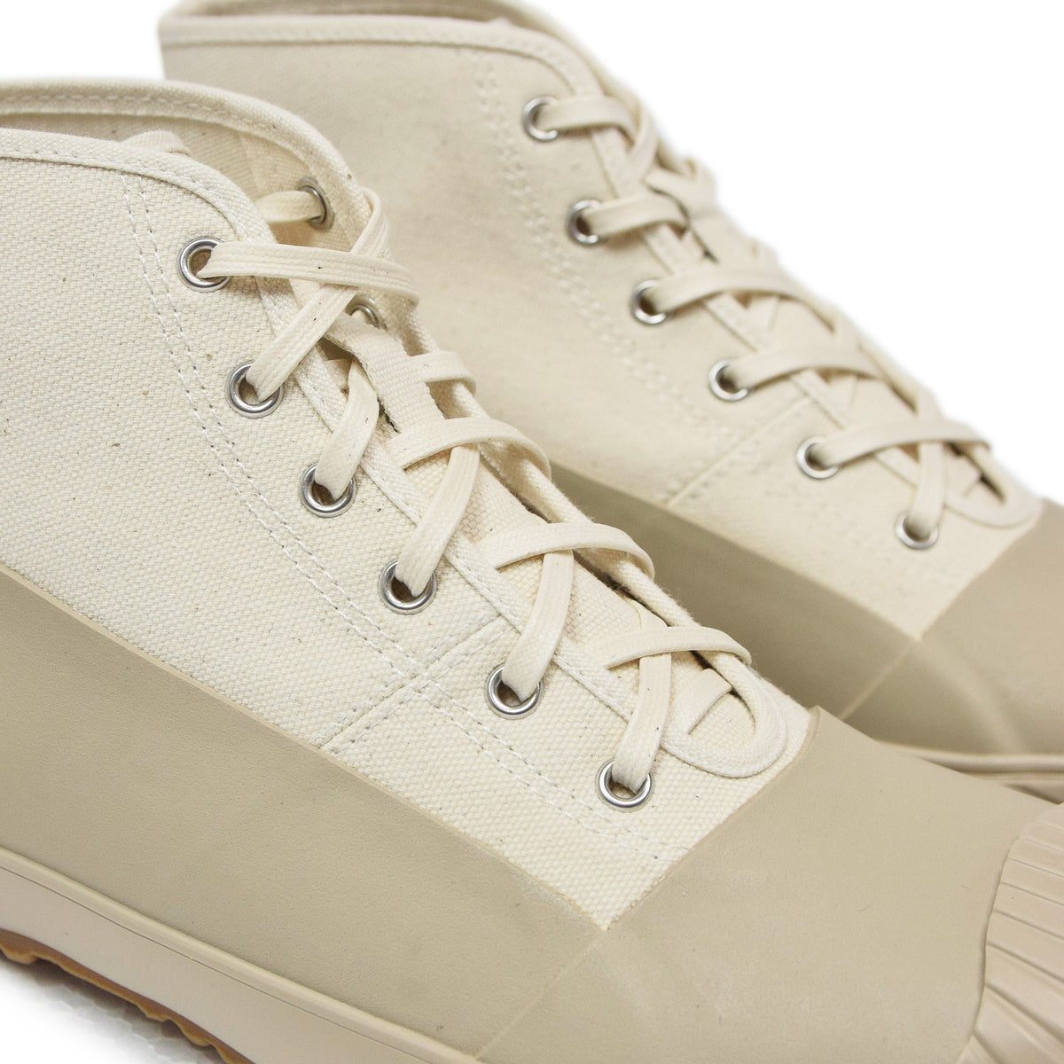 Moonstar Vulcanised Alweather Boot Beige Made In Japan laces