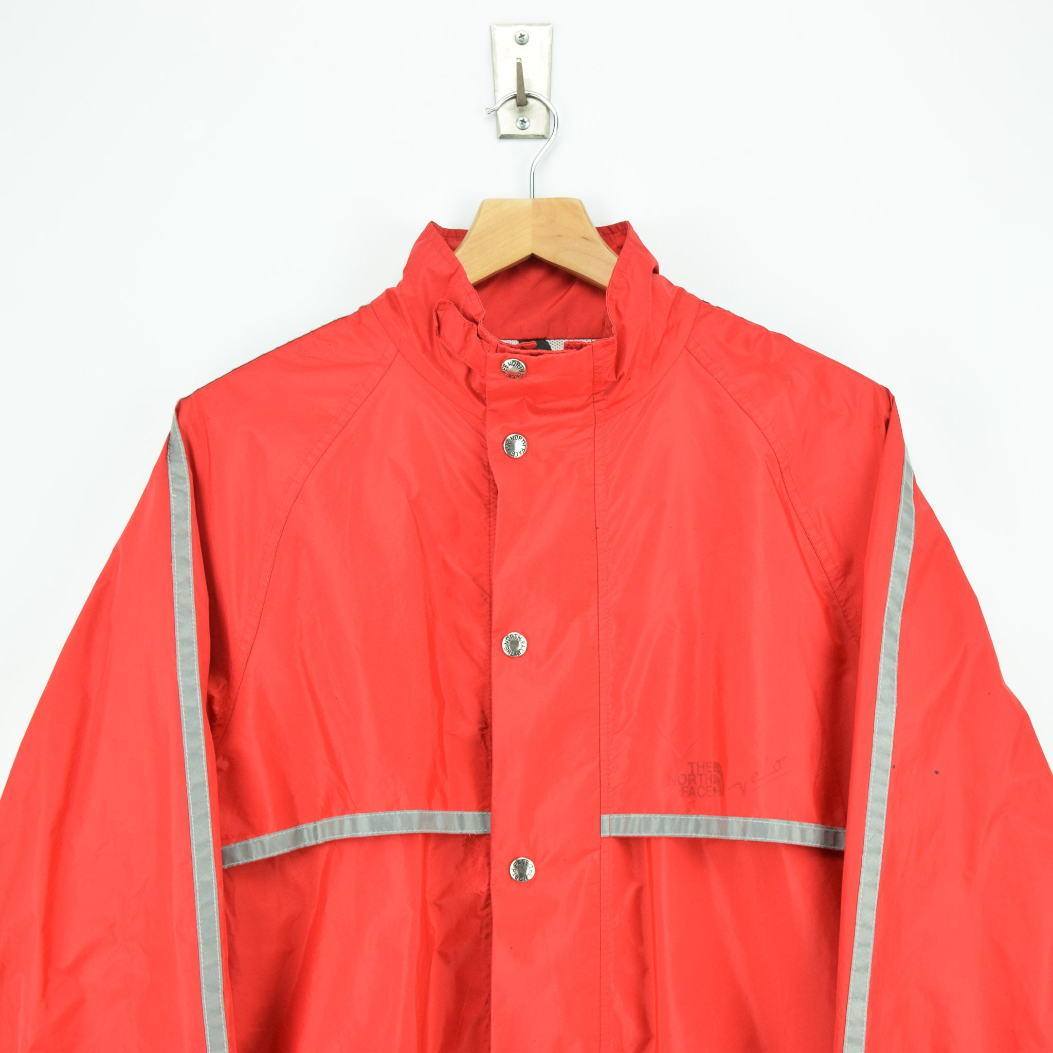 Vintage North Face Red Goretex Velo Biker Jacket Made in USA M chest